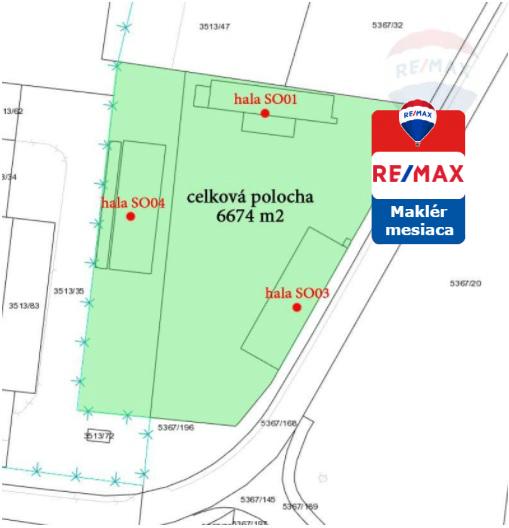 Predaj komerčného objektu 1441 m2 Malacky